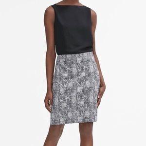 MM Lafleur Size 6 Noho Pencil Skirt in Crackle